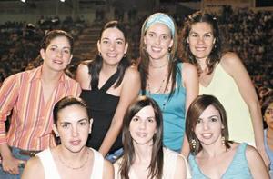 Alejandra de Russek, Marcela de Bustos, Marala de Garza Tijerina, Vanessa de Allegre, Bárbara de Calvillo, Pía de Arriaga y Adriana de Russek