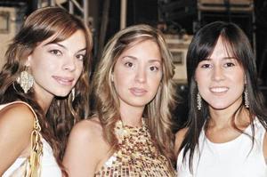 María Sofía Cobo, Andrea Valencia y Bertha Aguilera