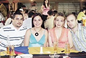 Alberto Villalobos, Fernanda Álvarez, Claudia Rueda y Polo González