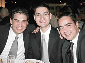 Juan Carlos Carmona, Edmundo López y Jorge Ramírez