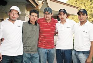 CAMPESTRE TORREON Manuel Campos, Valente Chávez, Raúl Aguilera, Santiago Gómez y Miguel
