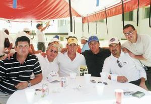 Mauricio Álvarez, Manuel Nevraumont, Eduardo Gómez, Luis Mario García, German Figueroa y Austreberto Guerrero