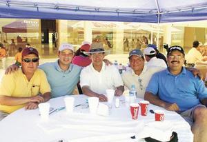 Francisco Gutiérrez, Jorge De la Garza, Rafael Degollado, Hector Gutiérrez y Toufik Iga