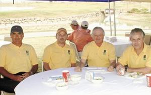Pedro Jaramillo, Roberto Fernández, Salvador García y Juan Manuel Suárez