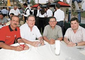 Jorge González, Federico Montaya, Gerardo Valdés y Rafael Saborit