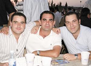 Alberto Torres Cofiño, Ramón Helguera Arellano y Alberto Molina Bortoni