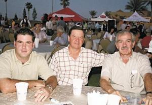 Israel de Cayón, Juan Fernando González y José Alfonso Dávila