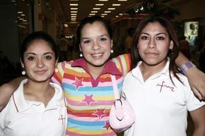 Fátima Betancourt, Karla Vázquez Giacomán y Julieta Azucena Sánchez.