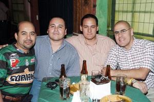 Francisco Escalera, José Ortiz, René Ramírez y Bernardo Estrada.