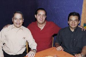 Jorge Darwich Darwich, Leonardo Cordero y Martín Calzada.