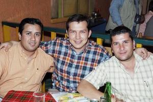 Jorge Torres, Iván Manuel Guevara y Alejandro Huerta.