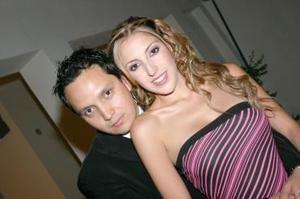 <b>14 de mayo </b><p> Jan Guevara y Diana González.