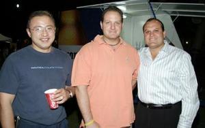 Jorge Martínez, Mauricio Mafud y Julio Alba.