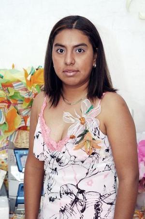 Brenda Rivera Zapata, capta ael día de su fiesta de despedida