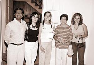 Gustavo Montes, Ana Villar, Brenda Álvarez, Arcenia Vargas, Priscilla Jaime.