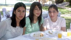 Daniela Mendoza, Daniela Dávila y Carolina Dávila.