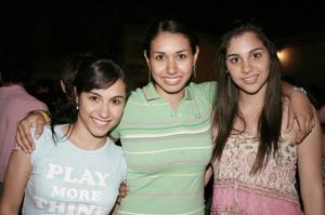 Emilia Ochoa, Denisse Kort y Laura Trasfí
