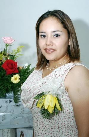Eunice Calderón Eguía, captada en su primera despedida de soltera.