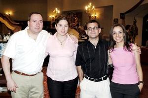 Fernando y Mercedes González, Ricardo Soldevilla y Elu Agüero