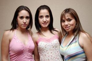 Lety Ibarra, Daniela Magaña y Paty Franco.