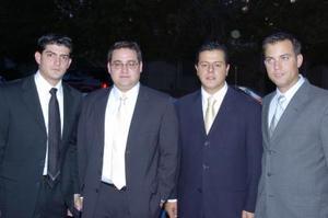 <b>21 de mayo </b><p> Yussef Mansur, José García, aNtonio Juan Marcos y Alejandro Yarza