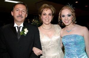 Germán Vargas Castro, Odila Villarreal y Clarissa Vargas.