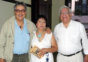 Guillermo Samperio, María Caleano y Fernando Martínez.