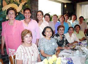 Soledad, Esperanza, Mague, Angélica, María Elena, Yolanda, Irma, Rocío, Lupita, Yolanda, Rita, Silvia, Lidia y Rebeca.