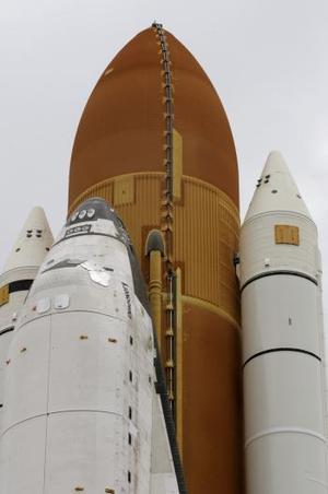 El nuevo depósito que se sujetará al 'Discovery' está equipado con un sistema de calefacción diseñado para impedir que se forme hielo en su superficie en los momentos previos al lanzamiento.