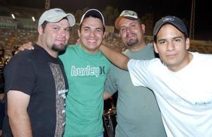Ricardo Enríquez, Fernie Rodríguez, Charly Fischer,y Francisco Licerio