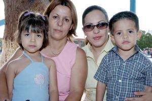 Guillermina Garduño, Mónica Rivera, Delia Gabriela Navejas y ángel Jesús Martínez