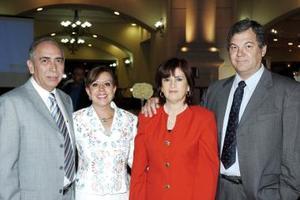 Jesús Zavala, Marisa de Zavala, Paty de Llamas y Fernando Llama.