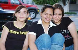 Rita González, Any Durán y Andrea Hernández.