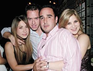 Ana Caro Madero, Poncho Zermeño, Alejandro Cano y Adriana Suárez