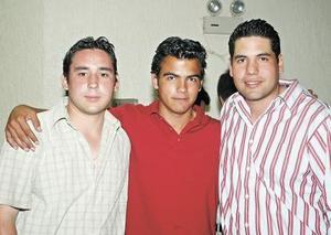 Manuel Camara, Sergio Hernández y Alberto Castellanos