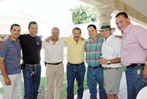 Gerardo Gómez, José Llamas, Rogelio Ramírez, Jaime Aguilera, Alberto Llama, Javier Aguilera y José Haro