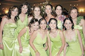 Alejandra Solis, Verónica Santos, Alejandra Galán, Lilette Chaurand, Perla Alfani, Claudia Mendiola, Cecilia Ocampo, Maricarmen Chávez, Georgina Cassani y Nidia Chapa