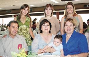 Any García de Gilio, Nancy García de Ruíz, Katia Ruiz, Jesús García Garza, Ángeles Madero de García, Diego Ruíz García y Nora Tamez de Ruíz