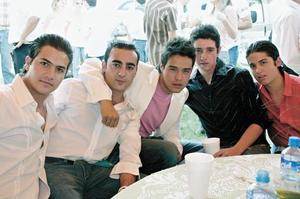 Fernando Pardeiro Simón, Luis Mendoza Ruenes, Alejandro Ríos, Roberto Müller Iduñate y Rodrigo Mendoza Ruenes