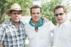 Jaime Aguilera, Javier Aguilera y Arturo Gilio