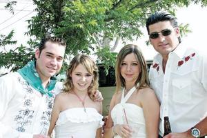 Damián Aguilera, Araceli Martínez, Malena Papadópulos y Fernando Ramos