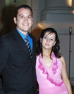 Ulises Romero y Gisela Castro, en pasada recepción nupcial