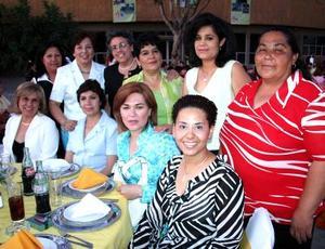Marcela Córdova , Irasema Casas, Elsa Saavedra, Marcela Covarrubias, Raquel Gamboa, Josefina Martínez, Magdalena Uribe, Patricia Tobías y Elvira Torres.