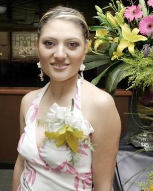 Alejandra Martínez Magaña el día de su fiesta de despedida.