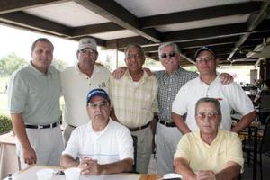 Alberto López Garza, Víctor Sirgo Oriz, Feliciano Zavala, Francisco,m Estrada, Federico Montoya, Jesús Aranzábal y otro compañero.