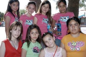 Alemendra Facio, Jeniffer Valdez, Paola Rodríguez, Paola Cano, Lorena Martínez, Lilia Arredondo, Idaly Arredondo y Mariel Limones, captadas recientemente.