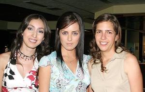 Georgina de Bosque, Mónica López y Selene Anguiano.