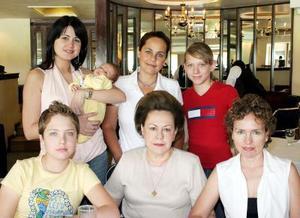 Ana Sofía de De la Garza, Rodrigo de la garza, María José de la Garza, Andrea Villarreal, Pamela Villarreal, Alicia de Aguirre y Finita de Villarreal.