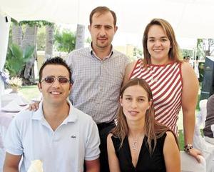 Jesús del Río, Daniela de Del Río, Omar Gutérrez y María Rosa P. de Gutiérrez.