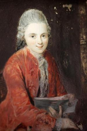 El hotelero Eric Marius Holtkott muestra el recién descubierto retrato del músico y compositor Wolfgang Amadeus Mozart, en Zurich Suiza.<p> El doble retrato, pintado sobre marfil, fue descubierto en un Hotel en el lago Thun, Suiza.  En una de sus caras muestra a Wolfgang y en el otro lado a su hermana Nannerl (Marianna). <p>  Las pinturas fueron realizadas en 1768 por un pintor desconocido en Guache.